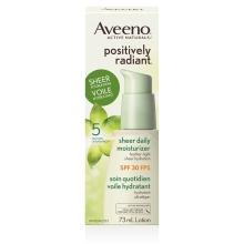 aveeno positively radiant spf 30 face moisturizer