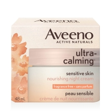 aveeno ultra calming night cream box