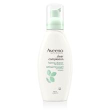 Flacon-pompe du nettoyant moussant pour le visage Aveeno clear complexion