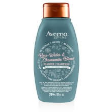 aveeno rose water hair shampoo bottle