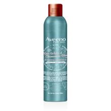Flacon du shampoing sec Aveeno à l'eau de rose