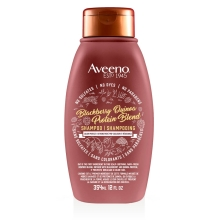 aveeno blackberry quinoa hair shampoo bottle