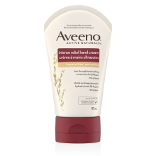aveeno intense relief hand cream tube