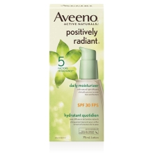 aveeno positively radiant spf 30 face moisturizer box