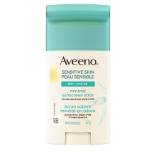 Aveeno's Sunscreen Stick with SPF 50 for Sensitive Skin