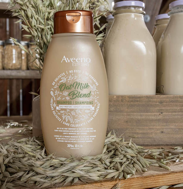 aveeno oat milk blend hait product bottle