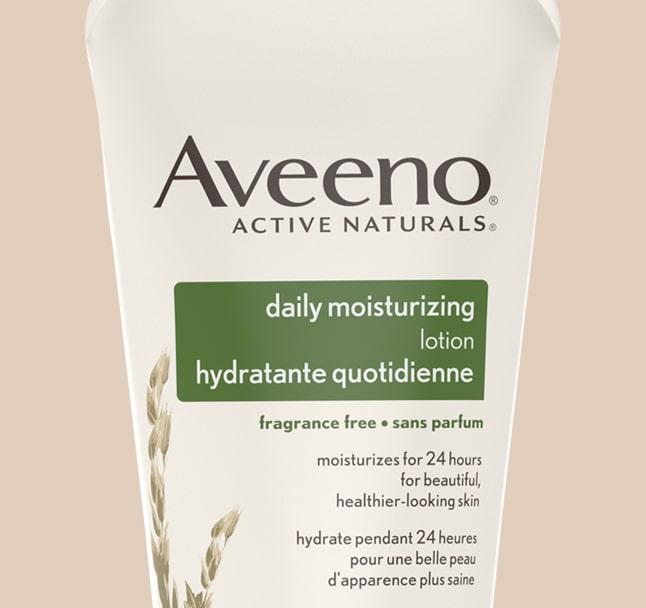aveeno daily moisturizing body lotion product label