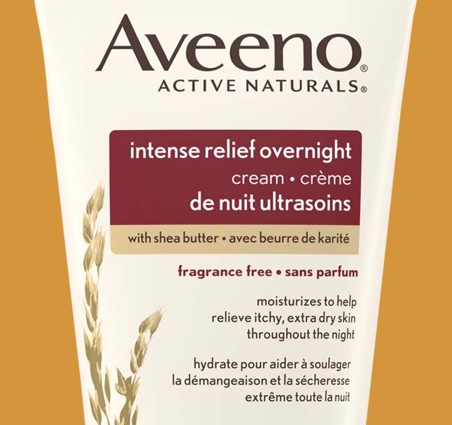 aveeno intense relief body lotion product label