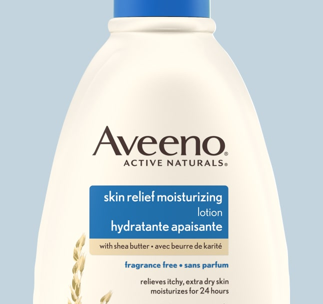 aveeno skin relief body lotion product label