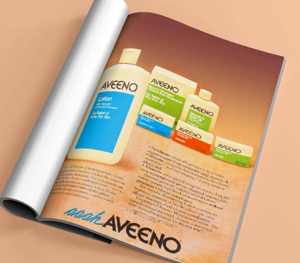 aveeno about us ad in a magazine